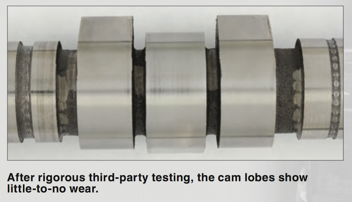 Cam Lobes Wear Test - AMSOIL SS reduces cam wear